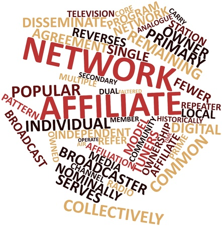 syndicated: Abstract word cloud for Network affiliate with related tags and terms