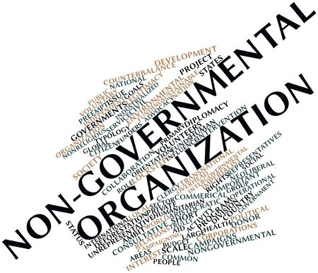lobbying: Abstract word cloud for Non-governmental organization with related tags and terms