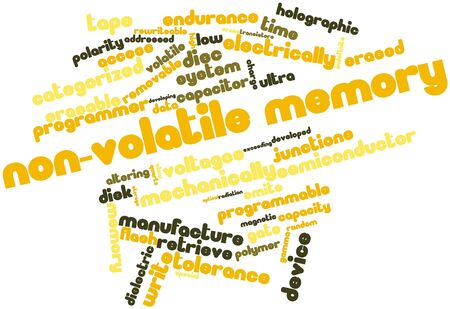 comparable: Abstract word cloud for Non-volatile memory with related tags and terms