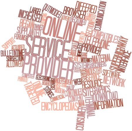 service provider: Abstract word cloud for Online service provider with related tags and terms