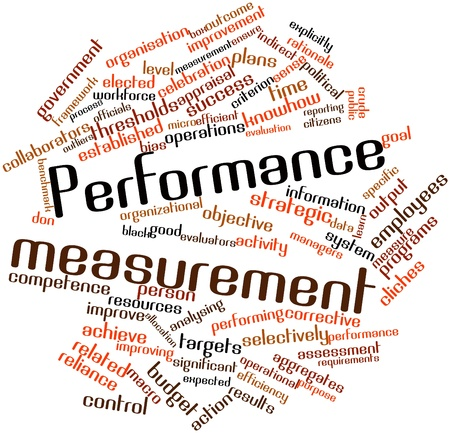 Abstract word cloud for Performance measurement with related tags and terms
