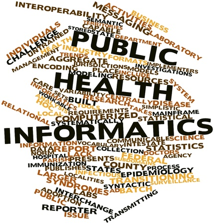 Abstract word cloud for Public health informatics with related tags and terms Stock Photo - 16578912