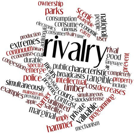 Abstract word cloud for Rivalry with related tags and terms Stock Photo - 16578933