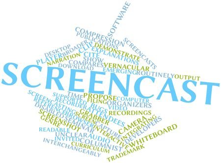 Abstract word cloud for Screencast with related tags and terms Stock Photo - 16578516