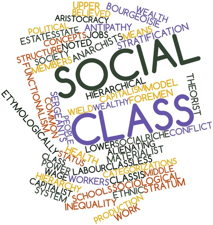 Abstract word cloud for Social class with related tags and terms Stock Photo - 16579244