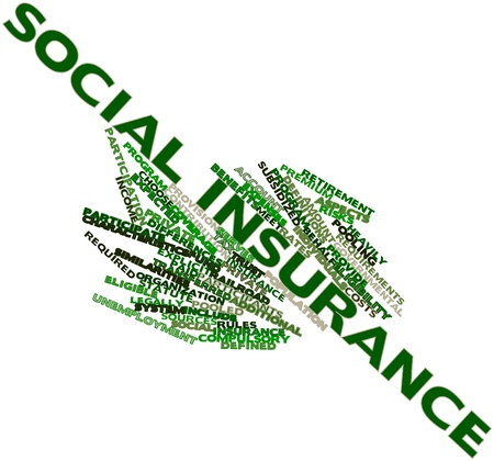 pooled: Abstract word cloud for Social insurance with related tags and terms