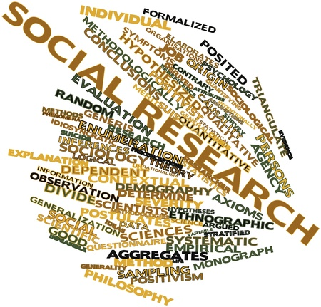 Abstract word cloud for Social research with related tags and terms Stock Photo - 16578719