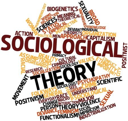 関連するタグと用語と社会学的な理論のための抽象的な単語雲