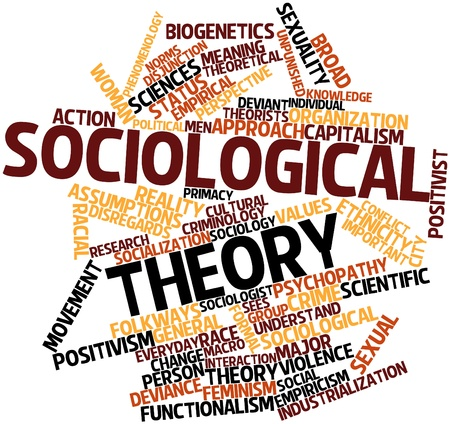 psychopathy: Abstract word cloud for Sociological theory with related tags and terms