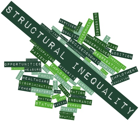 Abstract word cloud for Structural inequality with related tags and terms Stock Photo - 16580127
