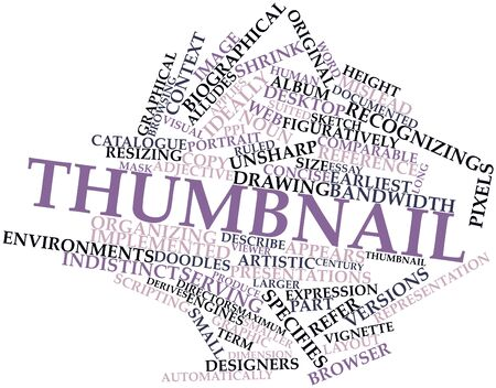 thumbnail: Abstract word cloud for Thumbnail with related tags and terms