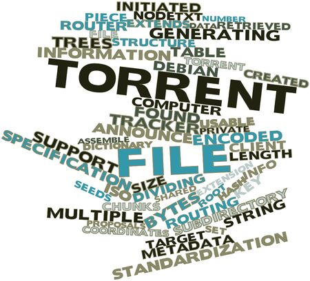 Abstract word cloud for Torrent file with related tags and terms Stock Photo - 16580140