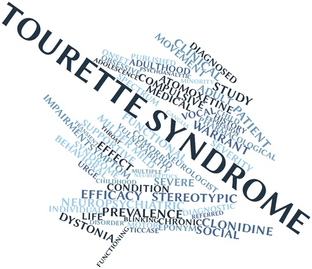 diagnosed: Abstract word cloud for Tourette syndrome with related tags and terms