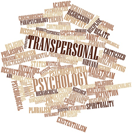 humanismo: Nube palabra abstracta para la psicología transpersonal con etiquetas y términos relacionados
