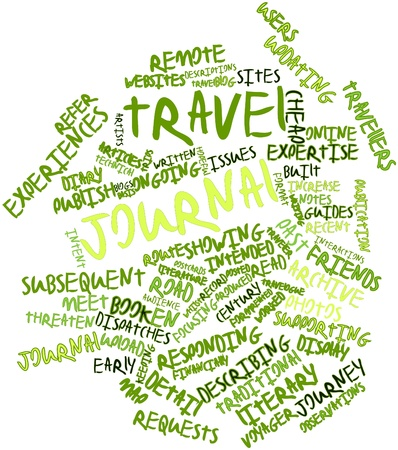 worked: Abstract word cloud for Travel journal with related tags and terms Stock Photo