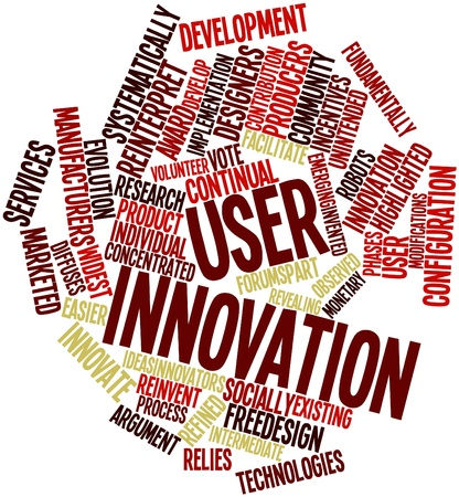 Abstract word cloud for User innovation with related tags and terms Stock Photo - 16578812