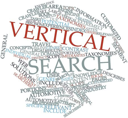 Abstract word cloud for Vertical search with related tags and terms Stock Photo - 16578967