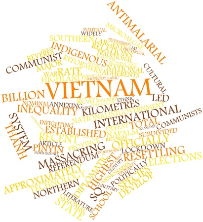 vietnam war: Abstract word cloud for Vietnam with related tags and terms