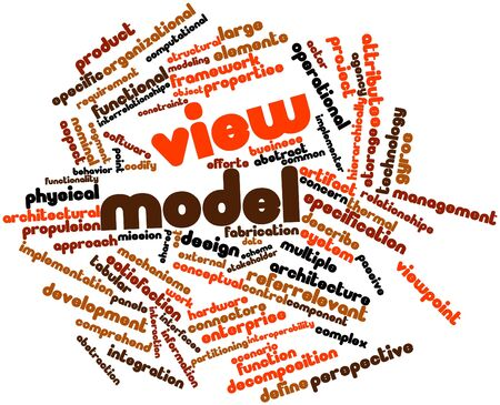 ontology: Abstract word cloud for View model with related tags and terms