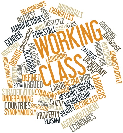 displace: Abstract word cloud for Working class with related tags and terms