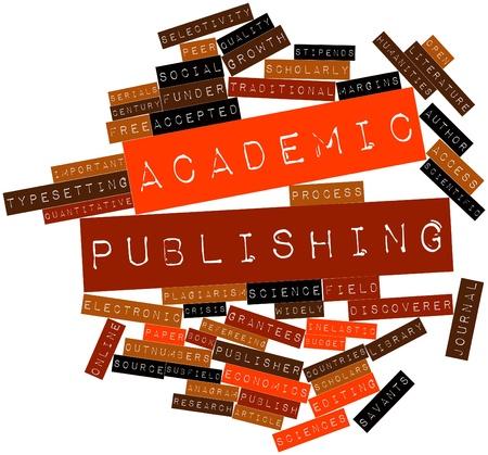 increasingly: Word cloud astratto per la pubblicazione accademica con tag correlati e termini