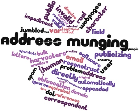 Abstract word cloud for Address munging with related tags and terms Stock Photo - 16578514