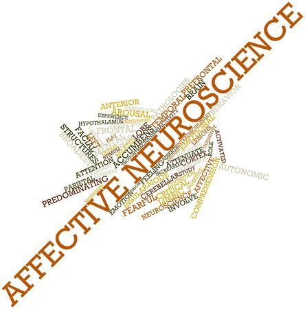 autonomic: Word cloud astratto per Affective Neuroscience con tag correlati e termini