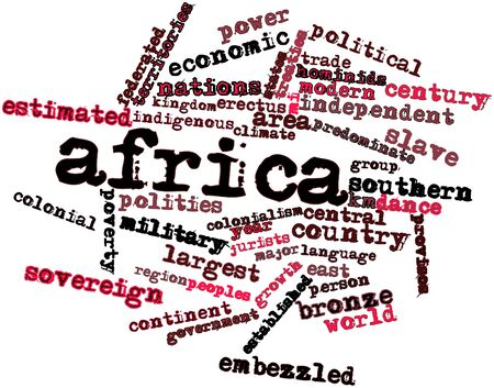 approximately: Abstract word cloud for Africa with related tags and terms