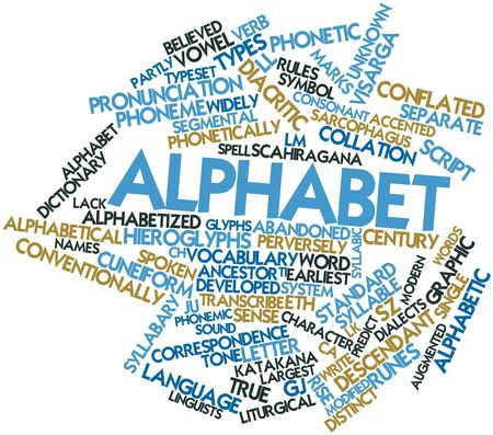 dialects: Abstract word cloud for Alphabet with related tags and terms