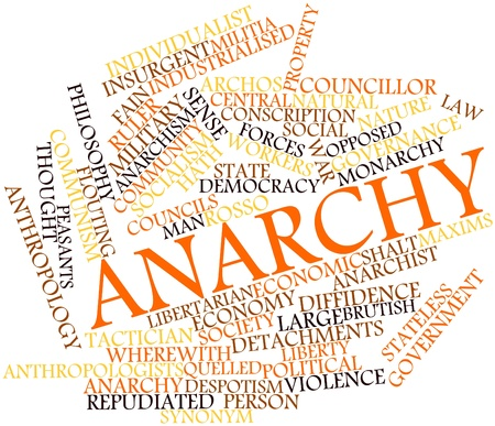 stateless: Abstract word cloud for Anarchy with related tags and terms