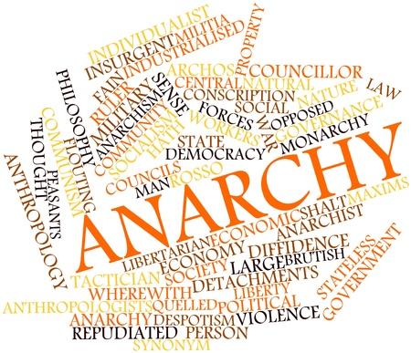 councils: Word cloud astratto per Anarchy con tag correlati e termini