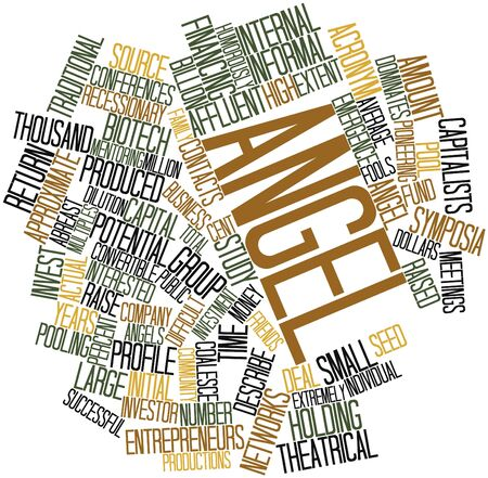 Abstract word cloud for Angel investor with related tags and terms