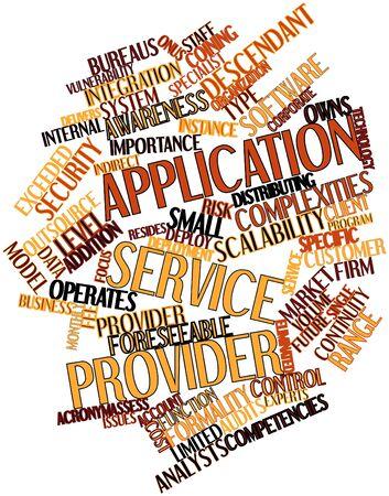 usługodawcy: Abstract cloud słowo Application Service Provider z pokrewnymi tagów oraz warunków Zdjęcie Seryjne