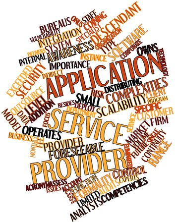 eliminated: Abstract word cloud for Application service provider with related tags and terms