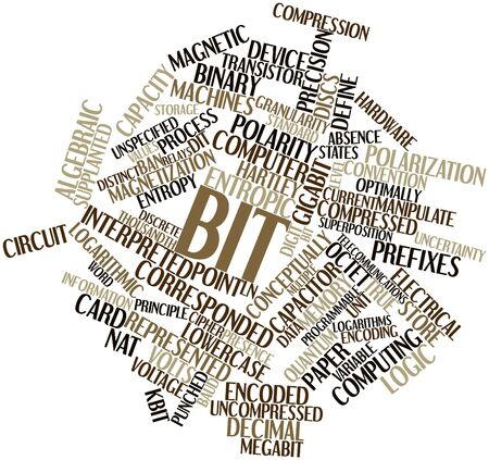 superposition: Abstract word cloud for Bit with related tags and terms Stock Photo