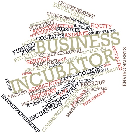 incubator: Abstract word cloud for Business incubator with related tags and terms