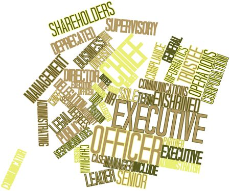 compensated: Abstract word cloud for Chief executive officer with related tags and terms