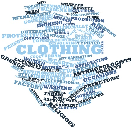 dissolving: Abstract word cloud for Clothing with related tags and terms
