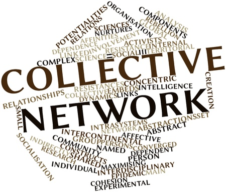 indirectly: Abstract word cloud for Collective network with related tags and terms
