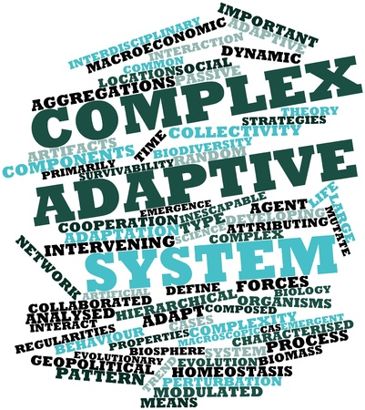 Abstract word cloud for Complex adaptive system with related tags and terms Stock Photo - 16579254