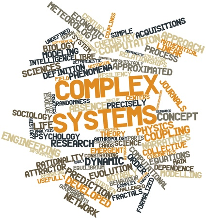 Abstract word cloud for Complex systems with related tags and terms Stock Photo - 16578970