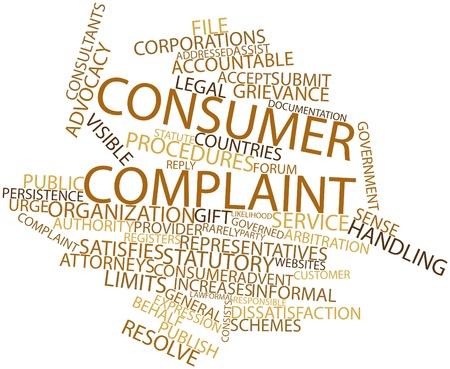 addressed: Word cloud astratto per il reclamo dei consumatori con tag correlati e termini