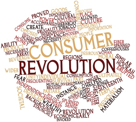 contributed: Abstract word cloud for Consumer revolution with related tags and terms