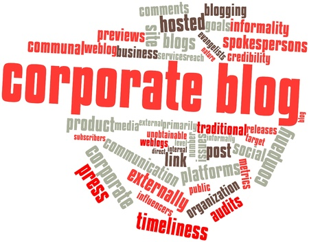 Abstract word cloud for Corporate blog with related tags and terms Stock Photo - 16578558