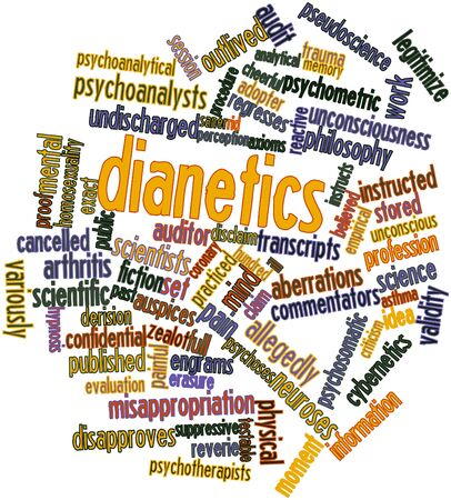 Abstract word cloud for Dianetics with related tags and terms Stock Photo - 16578655