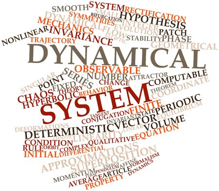 Abstract word cloud for Dynamical system with related tags and terms Stock Photo - 16579180