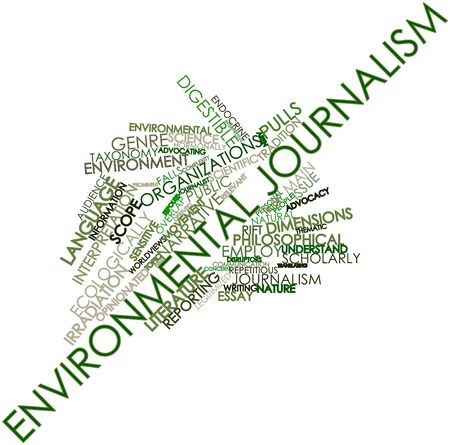 Abstract word cloud for Environmental journalism with related tags and terms Stock Photo - 16580194
