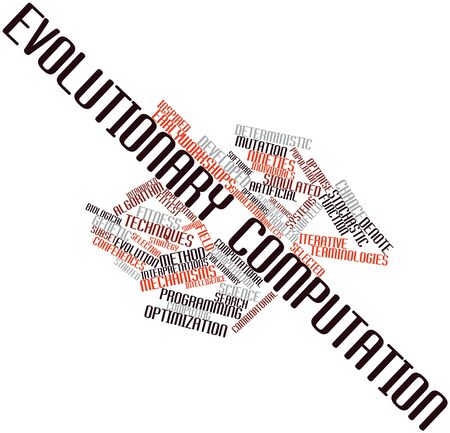 computation: Abstract word cloud for Evolutionary computation with related tags and terms
