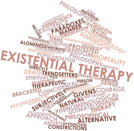 dualism: Nube palabra abstracta para la terapia existencial con las etiquetas y t�rminos relacionados