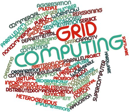Abstract word cloud for Grid computing with related tags and terms Stock Photo - 16578815